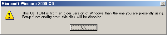 This CD-ROM is from an older version of Windows
